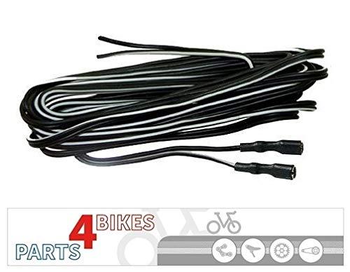 P4B Doppelkabel Scheinwerfer Rücklicht Lampe LED Frontscheinwerfer Fahrrad 2 isolierte Kabelschuhe 2200 mm Fahrrad Fahrradkabel Kabel