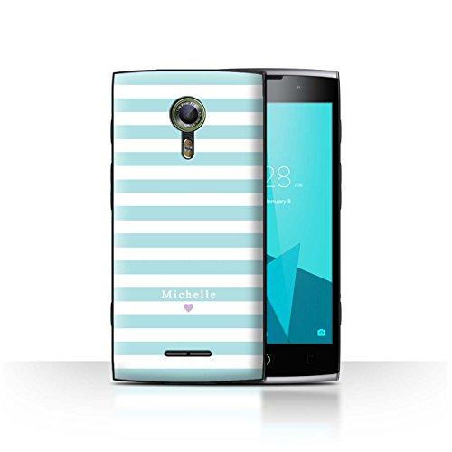 Stuff4Phone Case/Cover/Skin/alcf2/Custom Stripes/Striped Collection Coeur Rayure Bleu