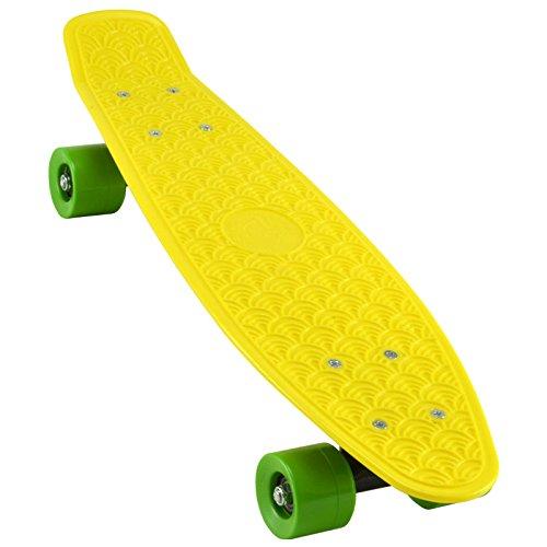 A.I.& E. Skateboard Retro Penny Long-Board Komplett Mini-Cruiser Rollbrett Fun Deck 22