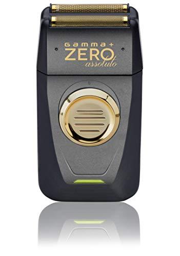 GAMMAPIU' Elektrorasierer Absolute Zero, Mann, Wiederaufladbar, Edelstahlklingen, Kabellos, Präzisionstrimmer, Ergonomisch, Leichtgewicht, 2 zusätzliche Ersatzklingen, Italienischer Stecker