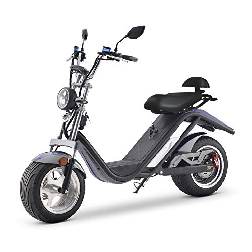 CITYCOCO Scotter Electrica E-Thor Matriculable 2000w 20Ah (Motor Brushless, batería litio, autonomía...