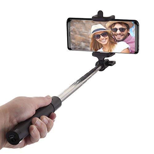 Power Theory Bluetooth Selfie Stick - Kabelloser Wireless Selfiestick kompatibel mit iPhone 11 Pro Max X XS XR 8 7 Plus 6s 6 SE Samsung Galaxy S20 S10 S9 S8 S7 Edge S6 Handy und Allen Smartphones