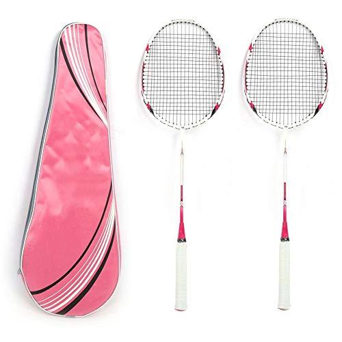 Professionelle Carbon Badminton Schläger Carbon Aluminium Paare Schulunternehmen Familie Sport Fitness Integrierter Doppelspieler Badminton Schläger