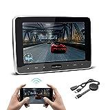 XTRONS ヘッドレストモニター 10.1インチ 大画面 dvd スロットイン式 車載 リアモニター DVDプレーヤー 後席モニター スマホ同期 HDMI USB SD AV-IN/AV-OUT レジューム機能 1年保証
