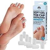 Dr. Frederick's Original Soft Gel Toe Protectors - 12 Pieces - Cushioning Toe Caps - Small