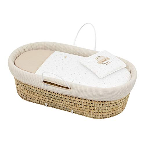 Cambrass 45113 Quilted Basket Une Sky 39x80x25 cm, Beige