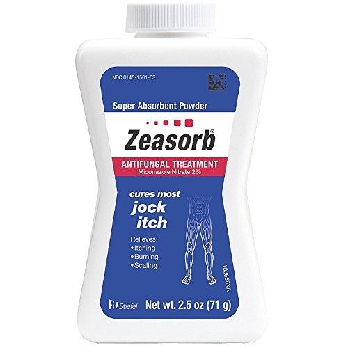Zeasorb-AF Super Absorbent Antifungal Treatment Powder for Jock Itch 2.5 oz (Pack of 2) by Zeasorb