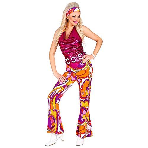 WIDMANN 09421 - Disfraz de discoteca aos 70, para mujer, multicolor, S , color/modelo surtido