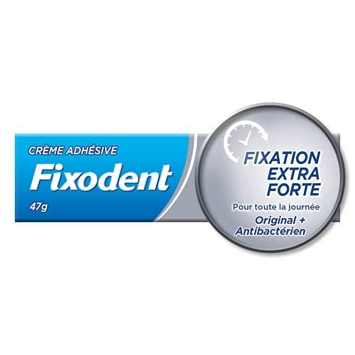 Fixodent, Crème Adhésive pour Prothèses Dentaires, Fixation Extra Forte, 47g