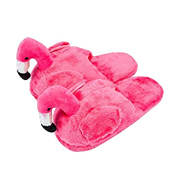 Women and Girls Flamingo Indoor Slippers Cute Animal Slippers Warm Memory Foam Cotton Home Slippers Soft Cozy Home Shoes Cute Fluffy Slippers Hot Pink