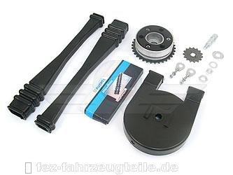 Satz Antriebsteile S51 (14-Teile - Kette+Kettenschutz+Kettenschlauch+Mitnehmer+Ritzel usw.)