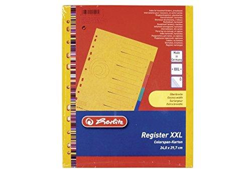 Preisvergleich Produktbild herlitz KartonRegister easyorga,  A4 Überbreite,  6teilig