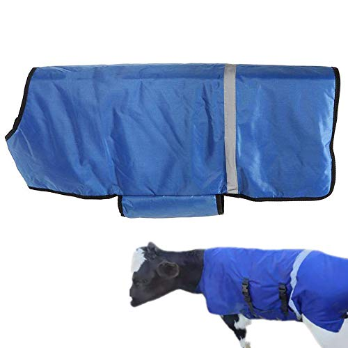 AZLZM Calf Coat,Oxford Fabric Calf Blanket Jacket Ripstop Waterproof Livestock Farm Animals Supplies