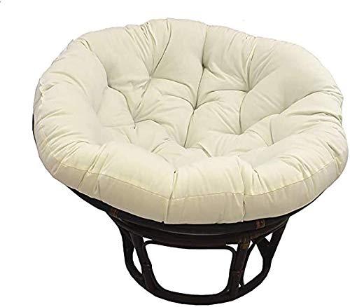 Cojín para silla, 110 cm x 6 cm x 44 pulgadas de color sólido hamaca colgante cojines de algodón redondo para interior jardín 110 cm