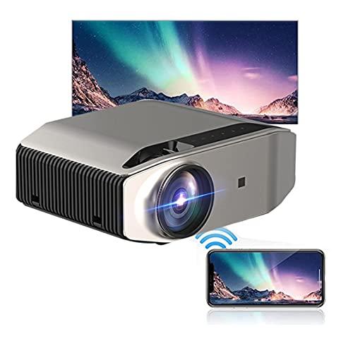 LXLTL Proiettore,Affari, insegnamento, Ufficio,telefoni cellulari Wireless sullo Stesso Schermo, proiettore Portatile ad Alta Definizione 1080P, interfaccia di Ingresso HD*2/USB2.0/VGA/Micro SD/AV