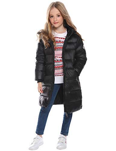 Hawiton donsjas voor kinderen koudebescherming waterafstotend donsjas lang koudebescherming warm verdikte outdoorwear met capuchon mantel voor meisjes