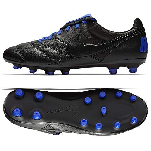 Nike The Premier II FG 917803-040 Black/Blue Kangaroo Leather Men's Soccer Cleats (10.5)