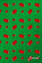 Journal: Green red cherries notebook