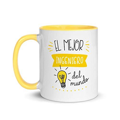 Kembilove Taza de Desayuno del Mejor Ingeniero del Mundo – Tazas de Café de Profesiones y Trabajadores para la Oficina – Tazas de Té para Profesionales – Taza de Cerámica 350 Ml