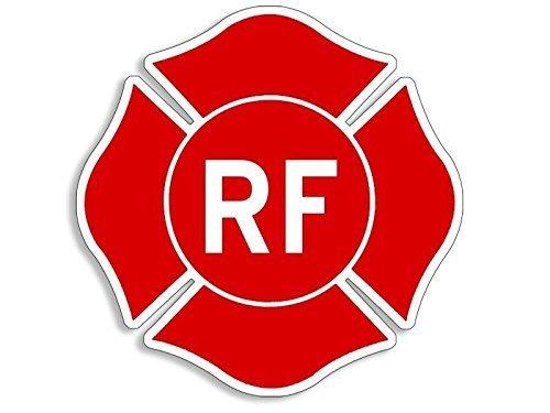 VinMea RF-Aufkleber in Form eines Malteserkreuzes (Brandschutz-Aufkleber), Größe: 10,2 x 10,2 cm, Rot