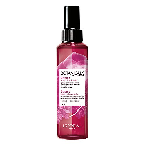 L'Oréal Paris Botanicals Geranio Rimedio di Brillantezza, Spray Aceto Illuminante per Capelli Colorati o Spenti, Senza Siliconi o Coloranti, 150 ml