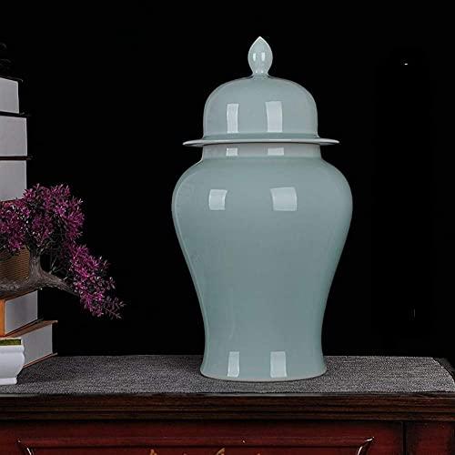 KTDT Vardagsutrustning blommig tempel ingefära burk vaser Kina ming stil tempel burk vas för heminredning vardagsrum kontor dekorativa vaser F H 49 x b 24 cm