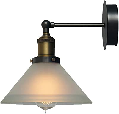 SH-63103,Retro Industrial Wall lamp,Conical Shape Glass Shade Wall Light,