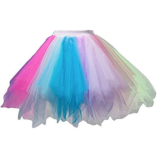 Vintage Tutu Rok Dames Mannen Meisjes Gekleurde Retro Ballet Dans Modieuze Rok Korte Mini Cosplay Een lijn Rok Ballet Jurk Bruidsjurk Petticoat Cake Rok Bubble Rok voor
