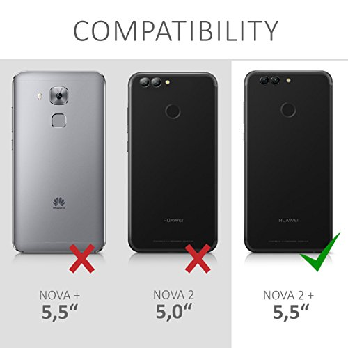 kalibri Huawei Nova 2 Plus Folie - 3D Glas Handy Schutzfolie für Huawei Nova 2 Plus - Auch für gewölbtes Display - 6