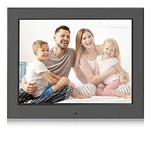 Digital Picture Frame 8 Inch Remote Control 1024x768 Digital Photo Frame Support Picture/Video/Calendar/Clock Maximum Extend to 256G BSIMB Black M12