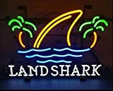 iNG MengDi New 20inx16in Landshark Lager Neon Sign (Various Sizes) Beer Bar Pub Man Cave Business Glass Neon Lamp Light DB254