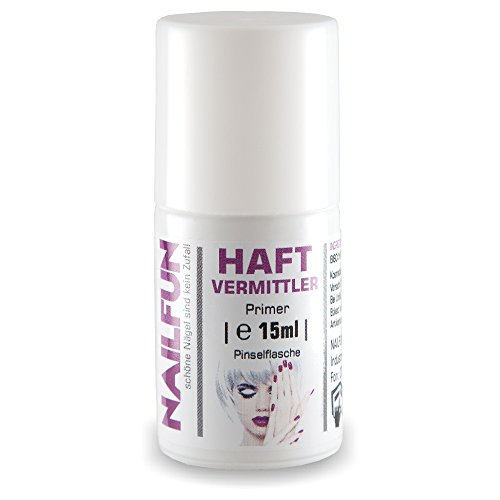 NAILFUN Haftvermittler Primer 15ml in der Pinselflasche - Top-Produkt, 1er Pack (1 x 15 ml)