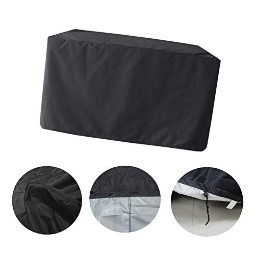 LITINGFC-Garden Furniture Cover,Oxford Cloth Outdoor Rattan Patio Furniture Set Covers,Rectangular Anti-UV Waterproof Windproof Courtyard Furniture (Color : Black, Size : 213x132x74cm)