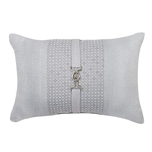 Croscill Nova Boudoir Pillow, 19x13, Silver