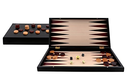 Aquamarine Games – Backgammon Black Series, colore: nero (Compudid S.L. CP033)