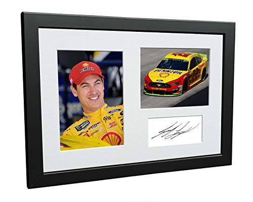 Kitbags & Lockers 12x8 A4 Joey Logano NASCAR No. 22 Ford Mustang GT Team Penske Signed Autographed Photo Photograph Picture Frame Poster Gift
