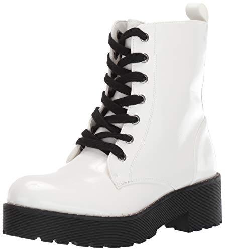 Dirty Launch, Botas de Tobillo Mazzy para Mujer, Blanco, (White Patent), 8 US