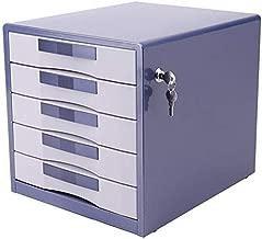 Asdfnfa File cabinets File Cabinets Desktop Office Filing Cabinets Drawer Data File Cabinet Rack Display 5 Layers Metal Lockable (Color : Blue)