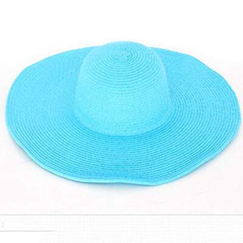 Gldgle Seaside Sun Visor Hat Female Summer Sun Hats for Women Large Brimmed Straw Sun Hat Folding Beach Girls Womens Sun Hats