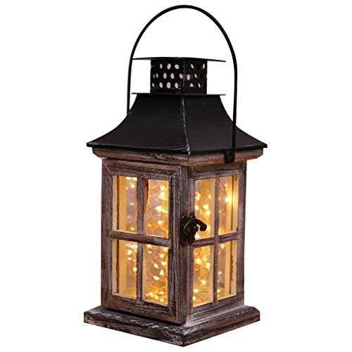 XUANLAN Veilleuse Nordique en Bois Massif Nuit Lumière Chaud Lampe De Chevet Chambre LED Lumière Creative Rétro Lampe Lustre Portable Lampe