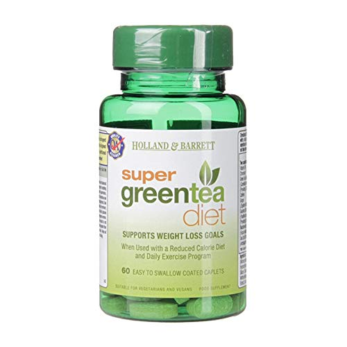 Super Greentea Diet Supports Weight Loss Goals / 60 Easy to Swallow Coated Tablets