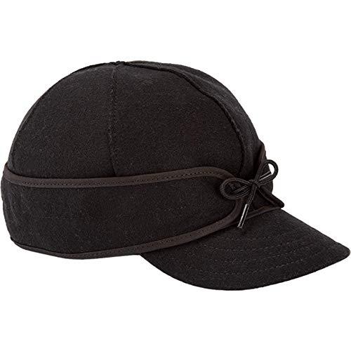Stormy Kromer Original Kromer Cap - Winter Wool Hat with Earflap Black