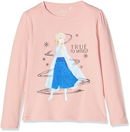 NAME IT Mädchen NMFFROZEN Ember LS TOP WDI Sweatshirt, Rosa (Silver Pink Silver Pink), (Herstellergröße: 104)
