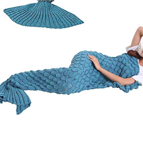 YOWAO Meerjungfrau Decke, Fisch Skala Muster alle Jahreszeiten Schlafsack 190x90cm (74.86