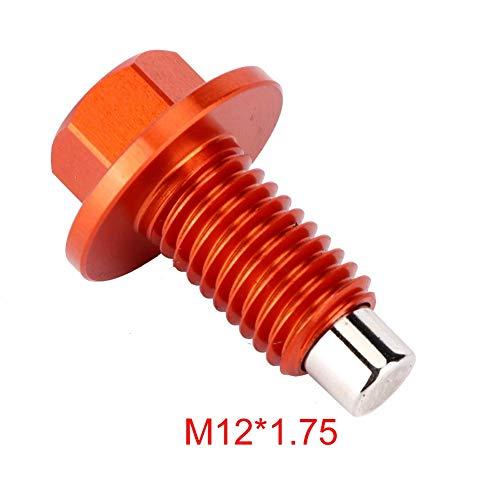 Tapón de drenaje de aceite del motor, tapón de drenaje de aceite magnético Tornillo de la cacerola del aceite del rendimiento estable del drenaje del aceite para el coche (M12* 1.75)