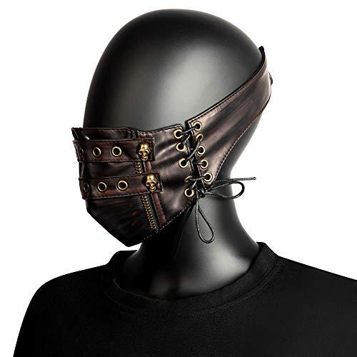 Steampunk Mask, Retro Bundle masker for Crossdresser Transgender Drag Queen Halloween, Cosplay Costume Party Props, Unisex-Volwassen, One Size