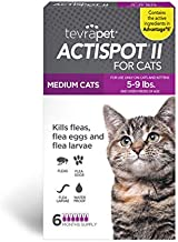 TevraPet Actispot II Flea Prevention for Cats - 5-9 lbs, 6 doses