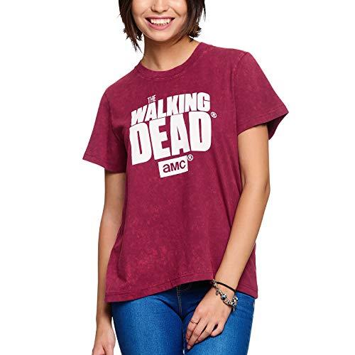Elbenwald T-Shirt Walking Dead Ladies Logo Red Cotton