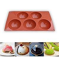 homEdge Stampo in silicone extra large a 5 cavità semi-sfera, stampo da 3 confezioni per fare cioccolato, torta, gelatina, mousse a cupola #1