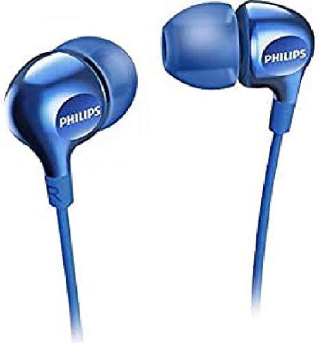 Philips Vibes SHE3700BK 00 - Auriculares in-Ear (Graves potentes, con 3 Auriculares de Goma Intercambiables), Color Negro